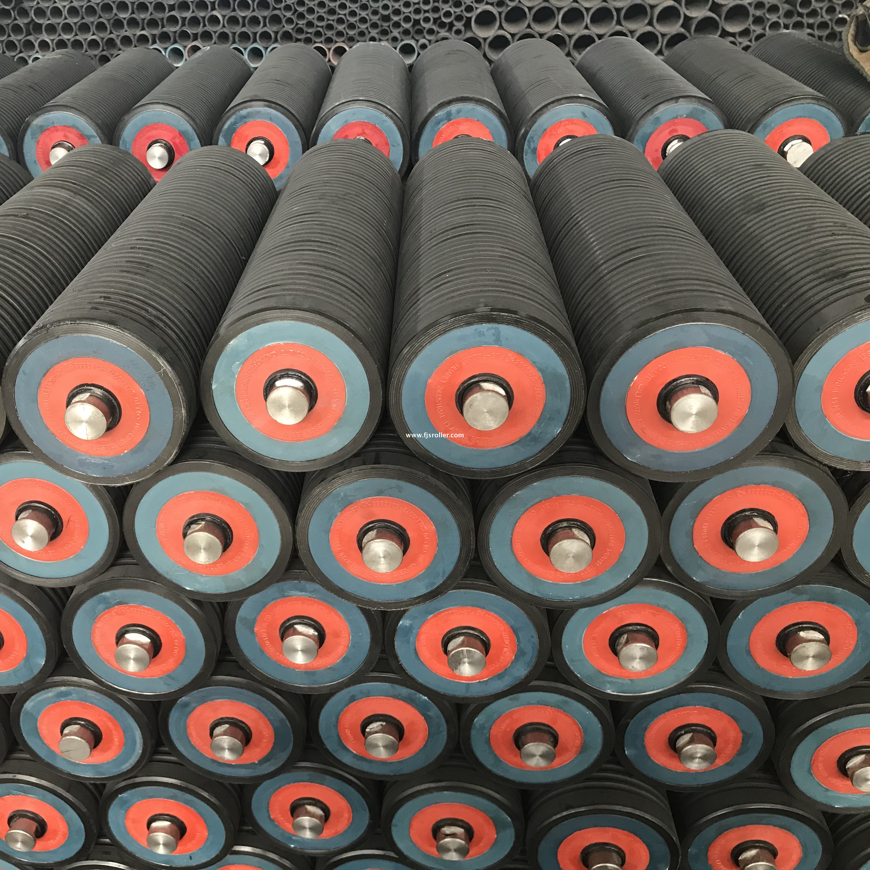 127mm dia dustproof and waterproof low noise HDPE conveyor idler roller