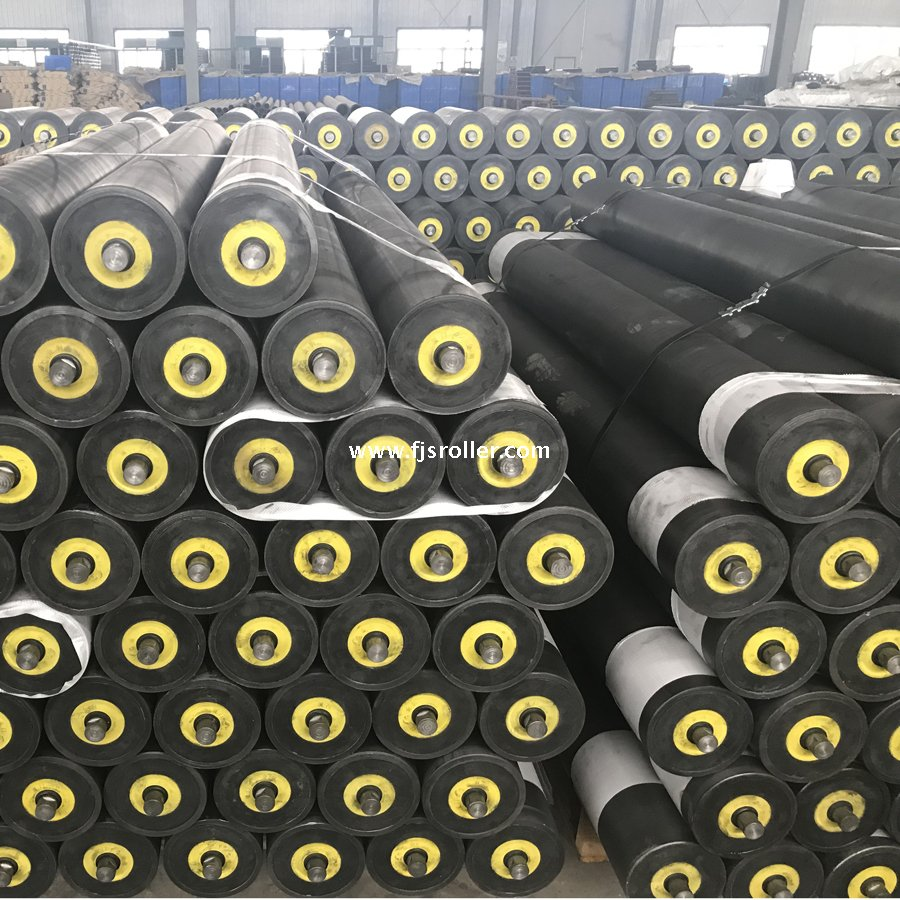 UHMWPE HDPE trough roller for belt conveyor high quality plastic conveyor carrying idler